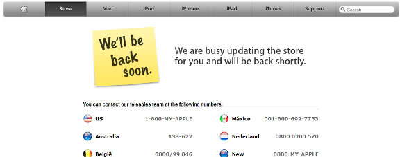 Apple Store Goes Offline