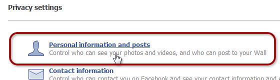 Facebook Personal Information and Posts